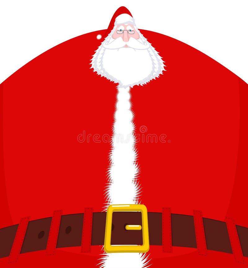 Άγιος Βασίλης μεγάλος και ζώνη Τεράστιος παππούς Χριστουγέννων τεράστιος απεικόνιση αποθεμάτων