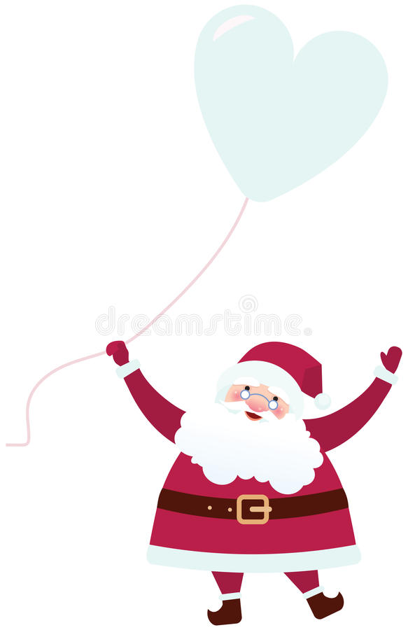 Άγιος Βασίλης με ένα μπαλόνι ελεύθερη απεικόνιση δικαιώματος