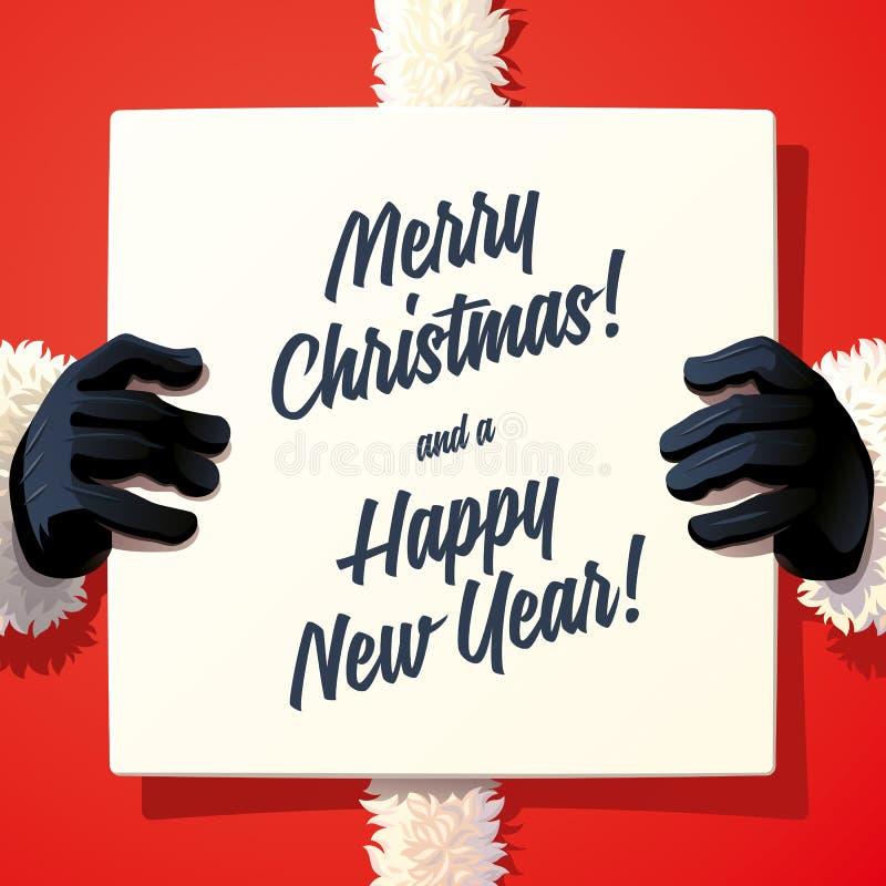 Άγιος Βασίλης που κρατά τραγουδά απεικόνιση αποθεμάτων