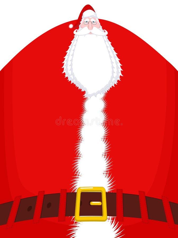 Άγιος Βασίλης υψηλός και ζώνη Τεράστιος παππούς Χριστουγέννων τεράστιος ελεύθερη απεικόνιση δικαιώματος