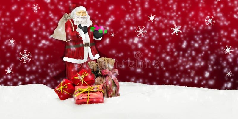 Άγιος Βασίλης - Χαρούμενα Χριστούγεννα απεικόνιση αποθεμάτων