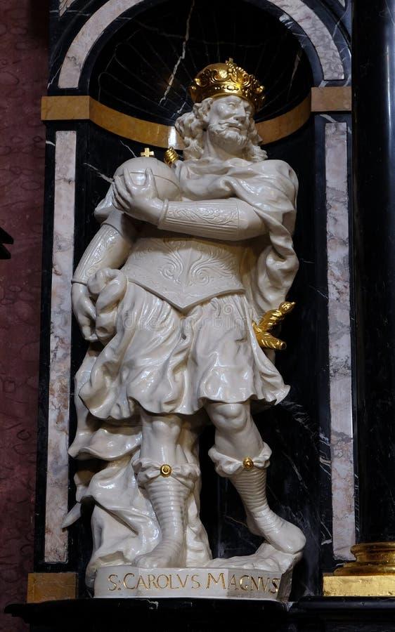 Άγιος Καρλομάγνος, επίσης γνωστός ως Charles ο μεγάλος στοκ εικόνες