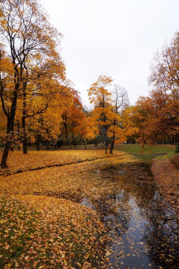 Άγιος-Πετρούπολη το φθινόπωρο στοκ φωτογραφίες