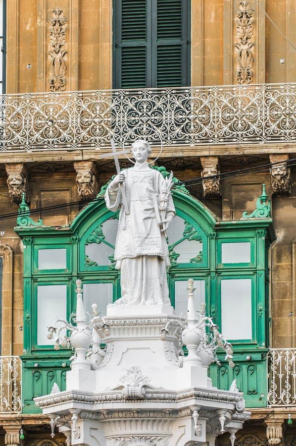 Άγιος Lawrence στο τετράγωνο Vittoriosa σε Birgu, Μάλτα στοκ φωτογραφία με δικαίωμα ελεύθερης χρήσης