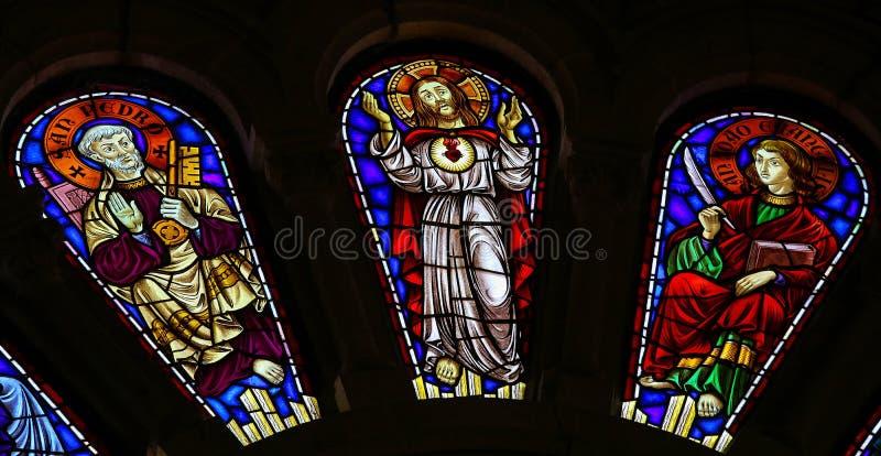 Άγιος Peter, Ιησούς Χριστός και Άγιος John ο Ευαγγελιστής στοκ φωτογραφία με δικαίωμα ελεύθερης χρήσης