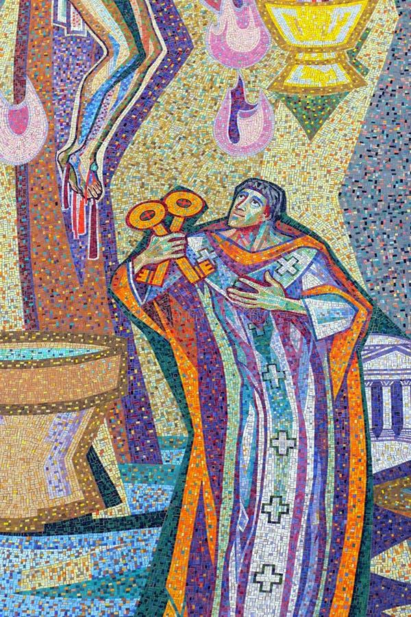 Άγιος Peter με τα κλειδιά στοκ φωτογραφίες