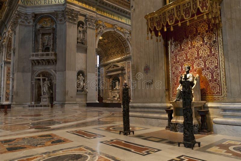 Άγιος Peter Cathedral στη πόλη του Βατικανού στοκ εικόνα