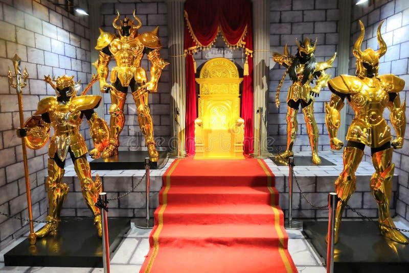 Άγιος Seiya, χρυσό ύφασμα Αγίου στοκ φωτογραφία με δικαίωμα ελεύθερης χρήσης