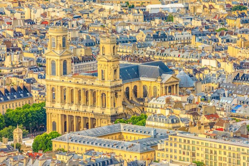 Άγιος-Sulpice εκκλησία Παρίσι στοκ φωτογραφίες