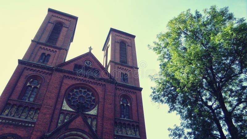 Άγνωστη εκκλησία στη νότια Πολωνία στοκ εικόνα