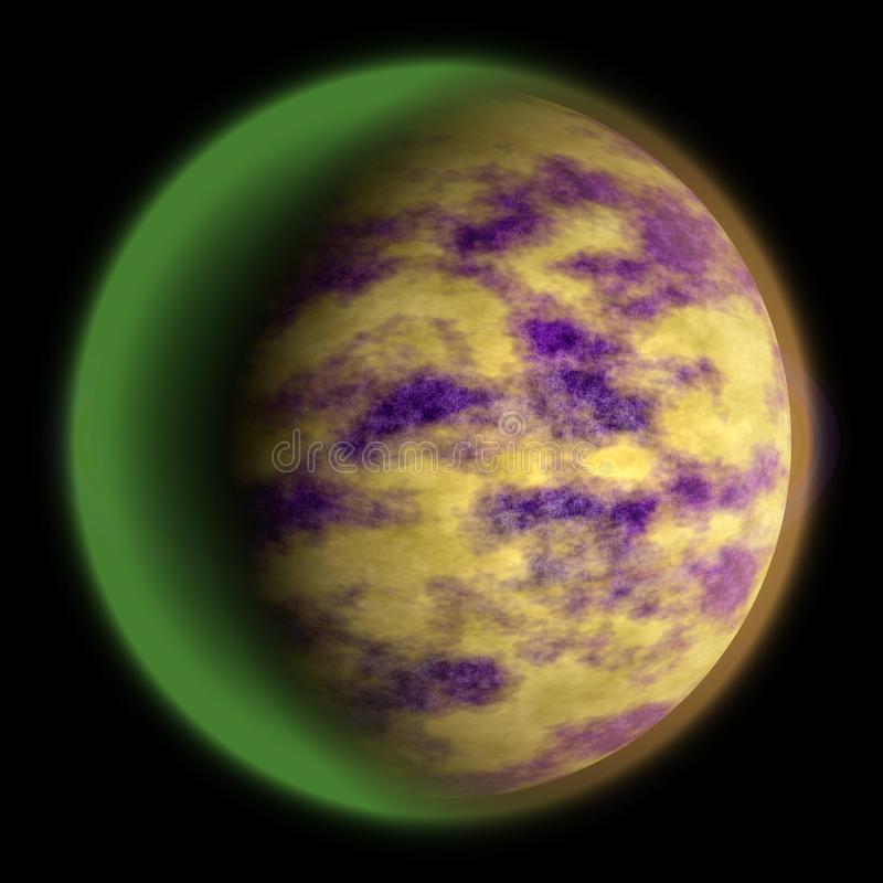 Άγνωστη σύσταση πλανητών, γη-όπως τρισδιάστατα 14 διανυσματική απεικόνιση