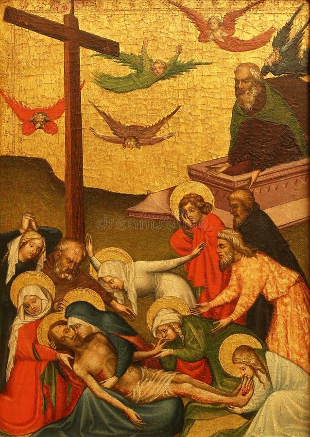 Άγνωστος ζωγράφος Styrian: Θρήνος Χριστού στοκ φωτογραφία με δικαίωμα ελεύθερης χρήσης