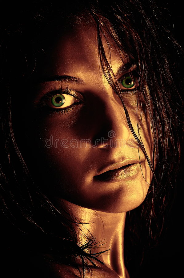 άγρια γυναίκα πορτρέτου στοκ φωτογραφία με δικαίωμα ελεύθερης χρήσης