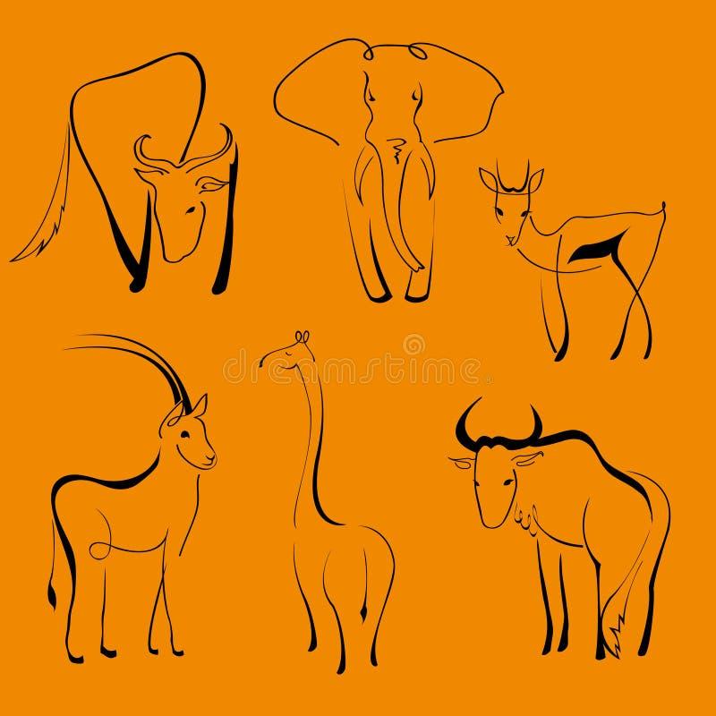 Άγρια ζώα διανυσματική απεικόνιση
