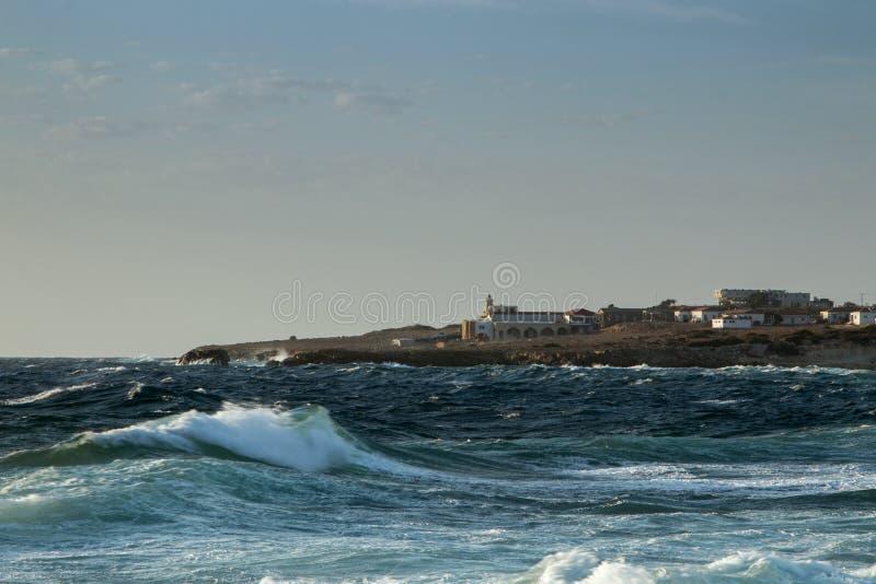 Άγρια κύματα θάλασσας στοκ εικόνες με δικαίωμα ελεύθερης χρήσης