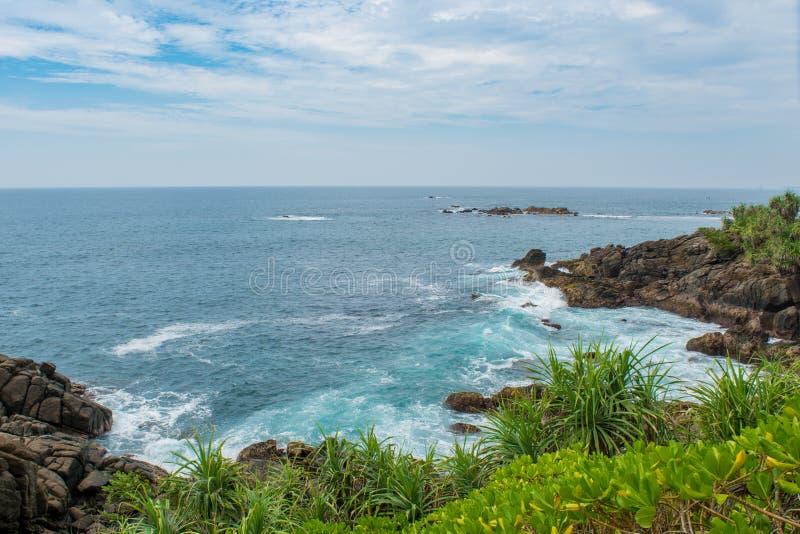 Άγρια παραλία στη Σρι Λάνκα στοκ φωτογραφίες με δικαίωμα ελεύθερης χρήσης