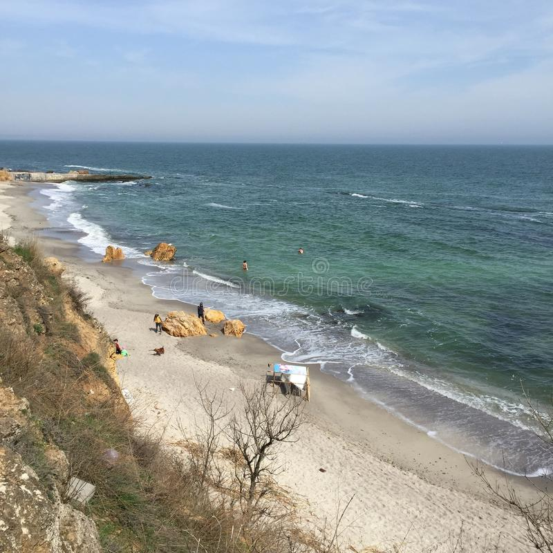 Άγρια παραλία στοκ φωτογραφία