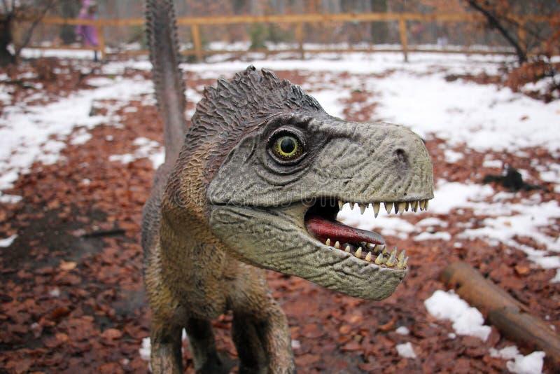 Άγριος δεινόσαυρος με το ανοικτό στόμα στοκ εικόνα με δικαίωμα ελεύθερης χρήσης