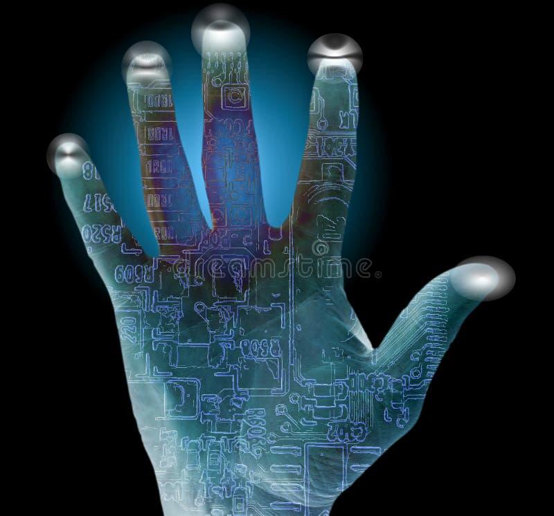 άγρυπνη ασφάλεια δακτυλ στοκ φωτογραφία με δικαίωμα ελεύθερης χρήσης