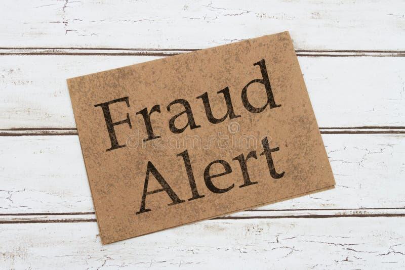 Άγρυπνη κάρτα προειδοποίησης απάτης στοκ εικόνα με δικαίωμα ελεύθερης χρήσης