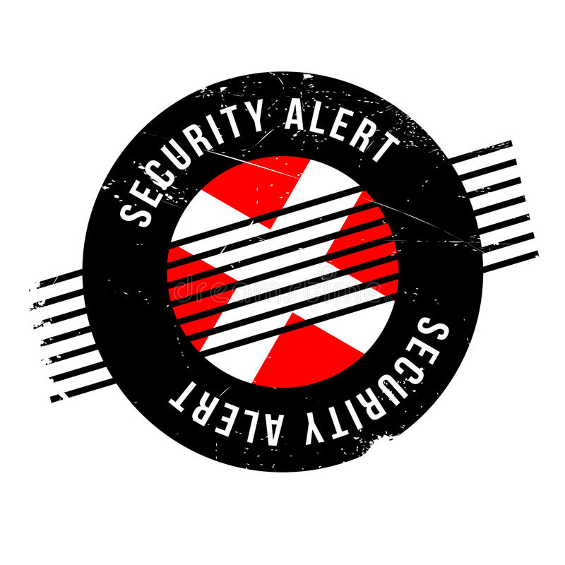 Άγρυπνη σφραγίδα ασφάλειας ελεύθερη απεικόνιση δικαιώματος