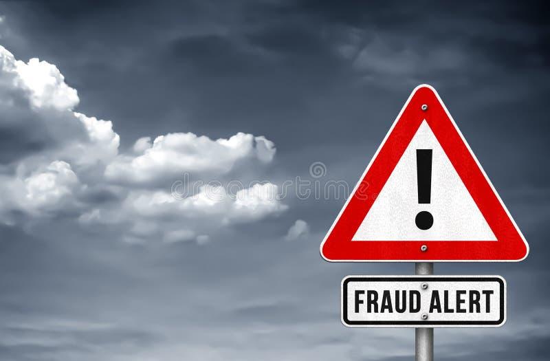 Άγρυπνο προειδοποιητικό σημάδι απάτης στοκ φωτογραφίες με δικαίωμα ελεύθερης χρήσης