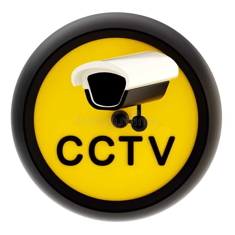 Άγρυπνο σημάδι τηλεόρασης κλειστού κυκλώματος διανυσματική απεικόνιση