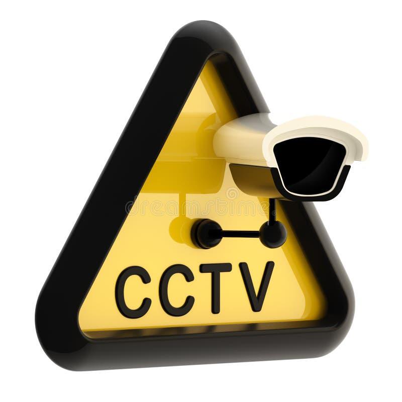 Άγρυπνο σημάδι CCTV τηλεόρασης κλειστού κυκλώματος ελεύθερη απεικόνιση δικαιώματος