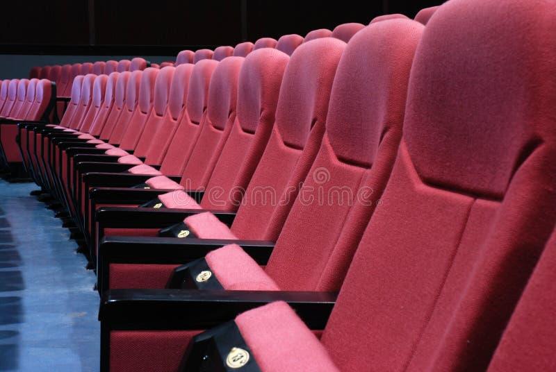 άδειες θέσεις κινηματογράφων στοκ φωτογραφίες