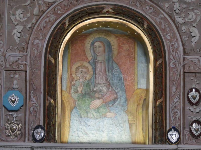 Άδυτο της Virgin σε Bobbio στοκ εικόνα