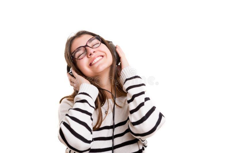 Άκουσμα τη μουσική στοκ εικόνες