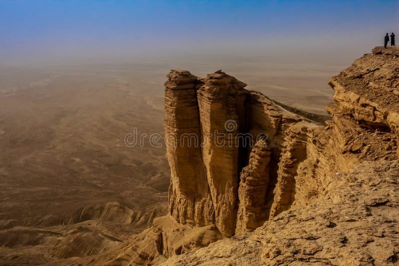 Άκρη του κόσμου, ένας δημοφιλής τόπος προορισμού τουριστών κοντά στο Ριάντ, Σαουδική Αραβία στοκ εικόνες