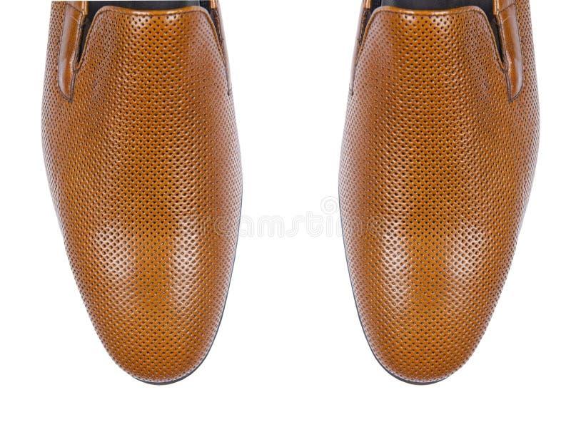 Download Άκρη των αρσενικών παπουτσιών που απομονώνεται στο λευκό Στοκ Εικόνα - εικόνα από ιματισμός, πόδια: 62704169