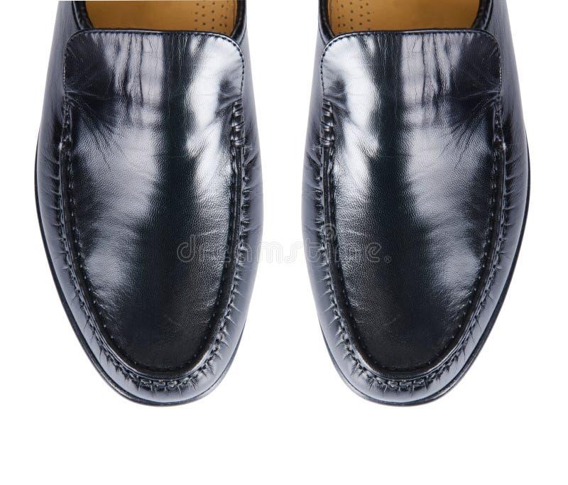 Download Άκρη των αρσενικών παπουτσιών που απομονώνεται στο λευκό Στοκ Εικόνα - εικόνα από δαντέλλα, περιστασιακός: 62711057