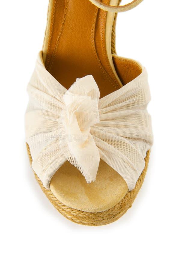 Download Άκρη των παπουτσιών γυναικών που απομονώνεται στο λευκό Στοκ Εικόνα - εικόνα από παπούτσια, παπούτσι: 62707949