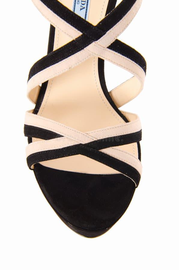 Download Άκρη των παπουτσιών γυναικών που απομονώνεται στο λευκό Στοκ Εικόνες - εικόνα από closeup, κομψός: 62708846