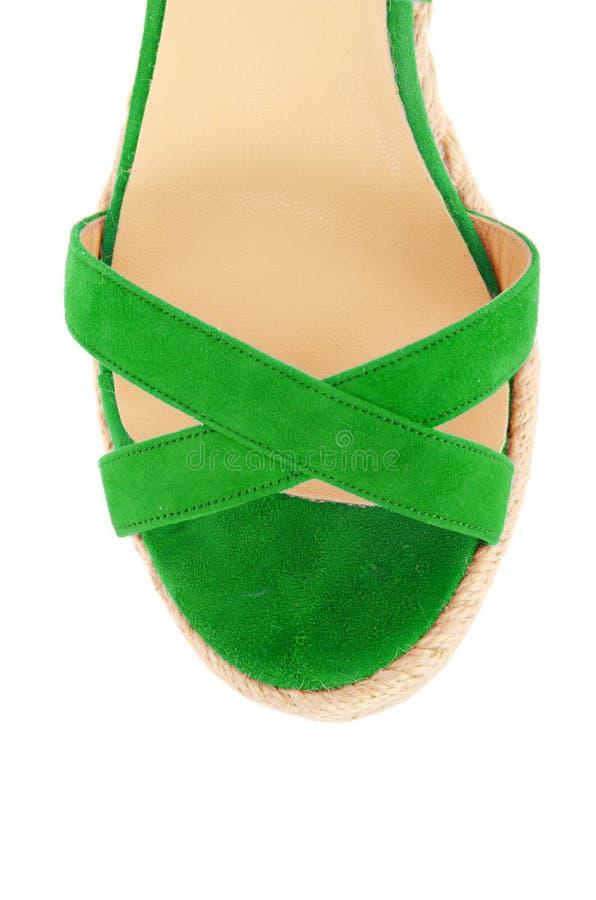 Download Άκρη των παπουτσιών γυναικών που απομονώνεται στο λευκό Στοκ Εικόνες - εικόνα από ballgames, σανδάλι: 62709970