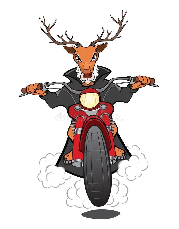 Άλκες ποδηλατών μια απεικόνιση κινούμενων σχεδίων μοτοσικλετών ελεύθερη απεικόνιση δικαιώματος