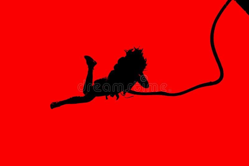 Άλματα Bungee ως ακραίο και αθλητισμό διασκέδασης στοκ εικόνες