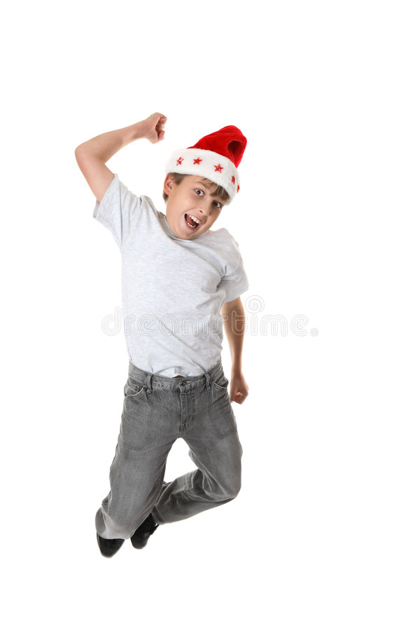 άλμα χαράς Χριστουγέννων στοκ εικόνες