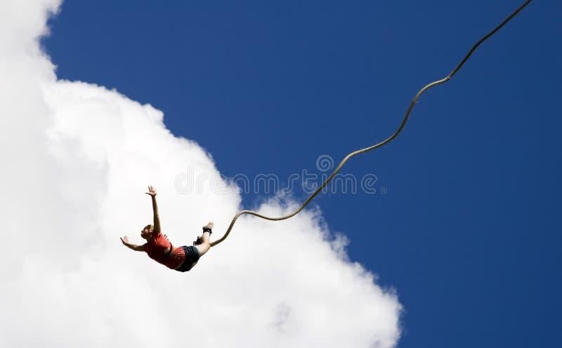 άλμα bungee στοκ εικόνες