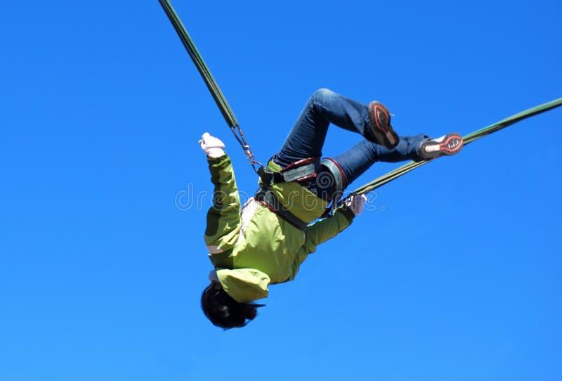 άλμα bungee στοκ φωτογραφία