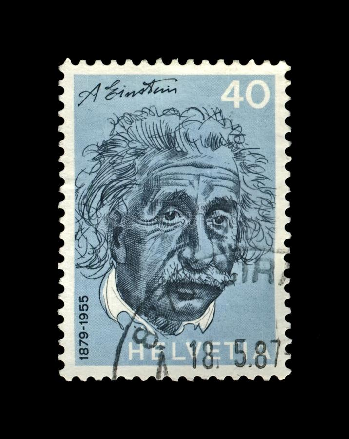 Άλμπερτ Αϊνστάιν, διάσημος επιστήμονας, φυσικός, νικητής βραβείου Νόμπελ, Ελβετία, circa 1972, στοκ εικόνα