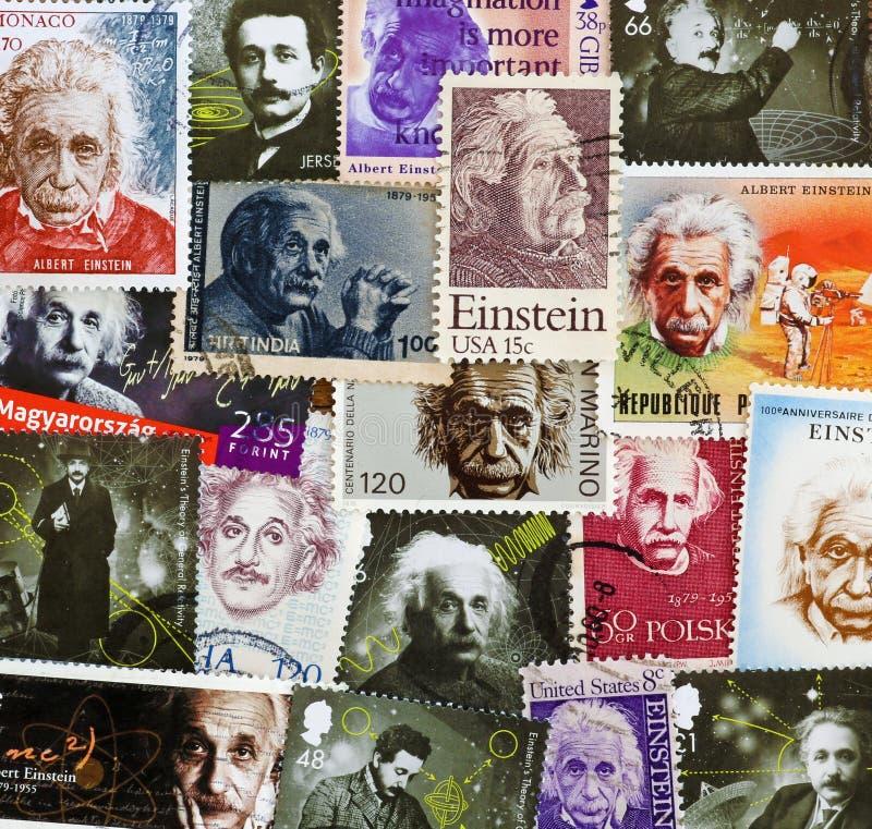 Άλμπερτ Αϊνστάιν σε διάφορα διαφορετικά γραμματόσημα στοκ εικόνα με δικαίωμα ελεύθερης χρήσης