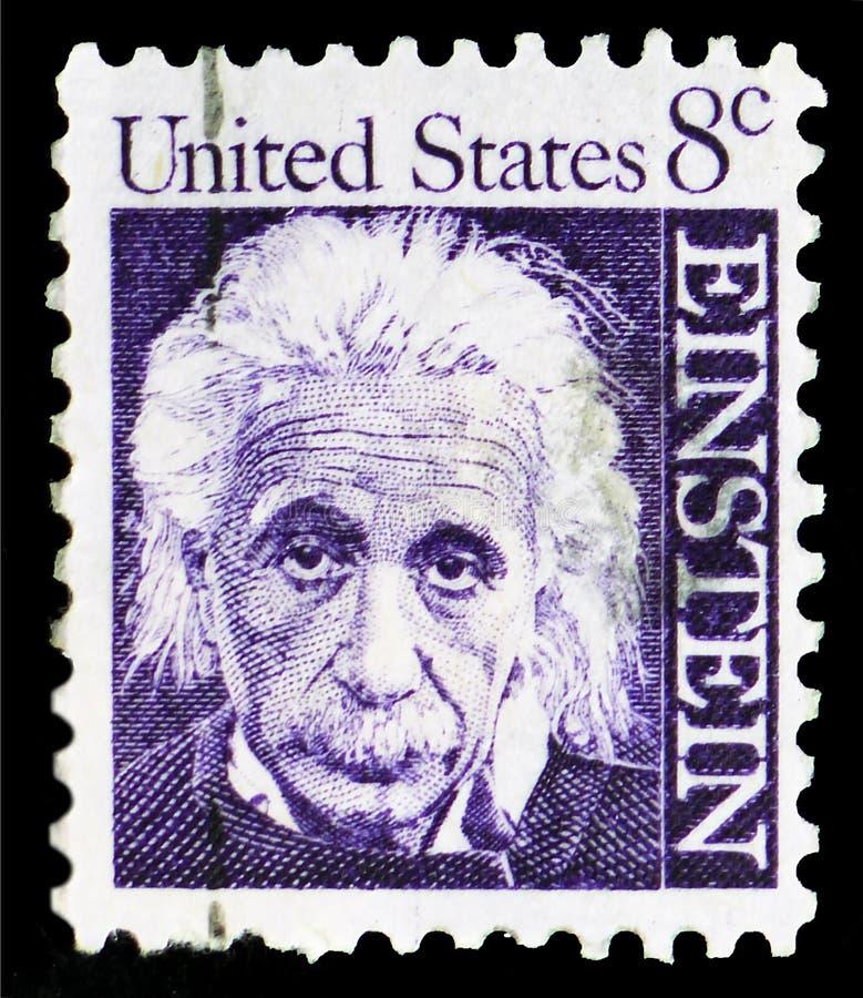 Άλμπερτ Αϊνστάιν 1879-1955, φυσικός, διάσημοι Αμερικανοί serie, circa 1966 στοκ εικόνες με δικαίωμα ελεύθερης χρήσης