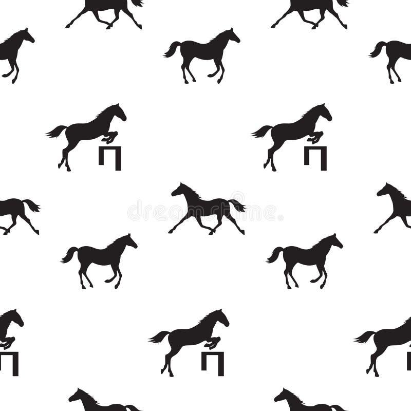 άλογα άνευ ραφής διανυσματική απεικόνιση