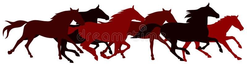 άλογα διανυσματική απεικόνιση