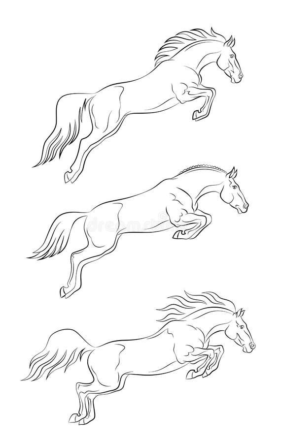 Άλογο άλματος απεικόνιση αποθεμάτων
