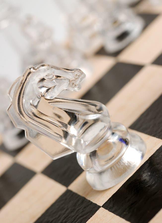 άλογο γυαλιού σκακιού στοκ φωτογραφίες με δικαίωμα ελεύθερης χρήσης