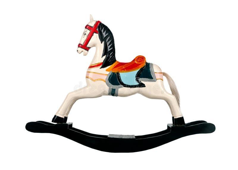 Άλογο λικνίσματος ξύλινο στοκ εικόνες